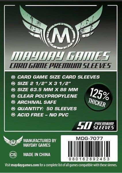 Mayday Games Premium Card Sleeves 7077 (63,5x88mm)