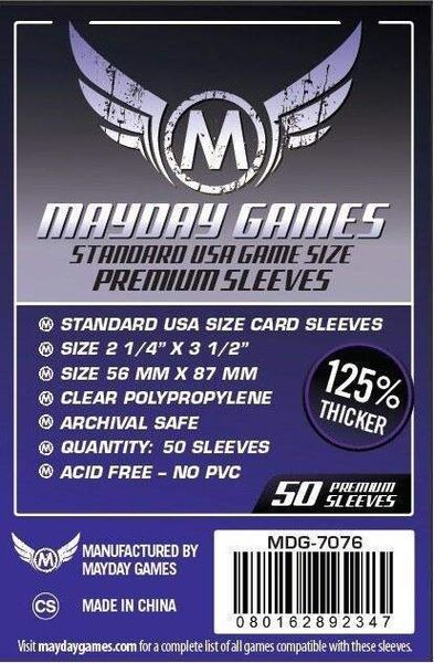 Mayday Games Premium Card Sleeves 7076 (56x87mm)