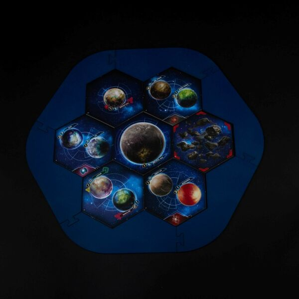 Twilight Imperium Map Frame (dark blue)
