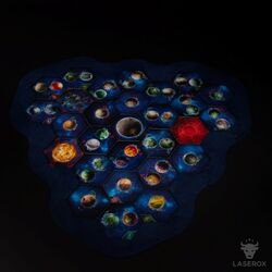 Twilight Imperium Map Frame 3 Spieler Modul (dark blue)