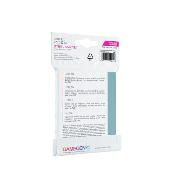 Gamegenic - Prime Sleeves - Magenta (72x112mm)